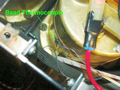 Placing the thermocouple